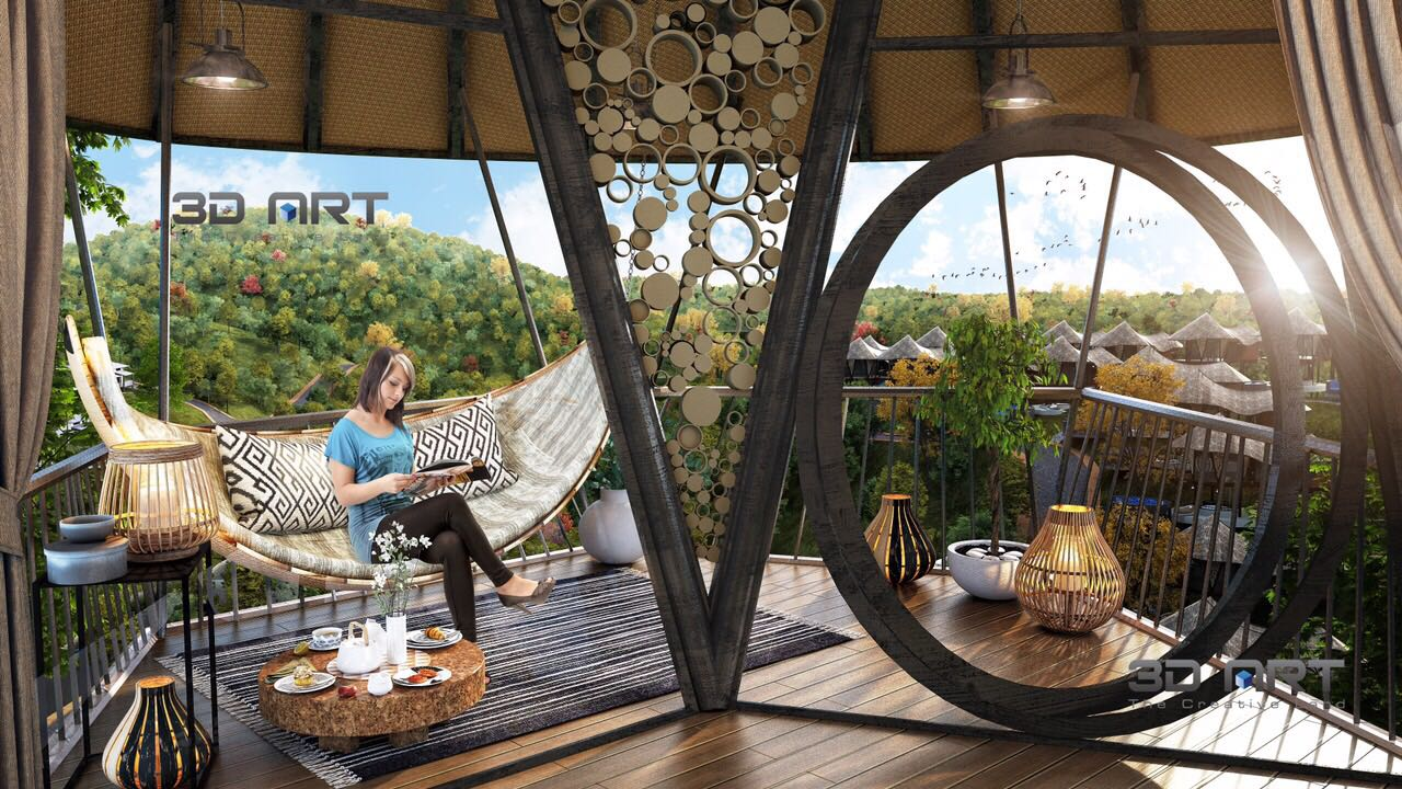 Không gian thoáng đãng tại Sakana Resort