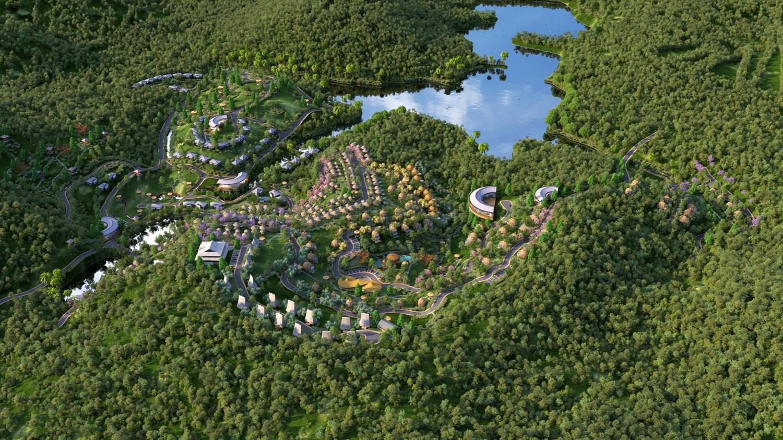 Phối cảnh quần thể nghỉ dưỡng Sakana Resort